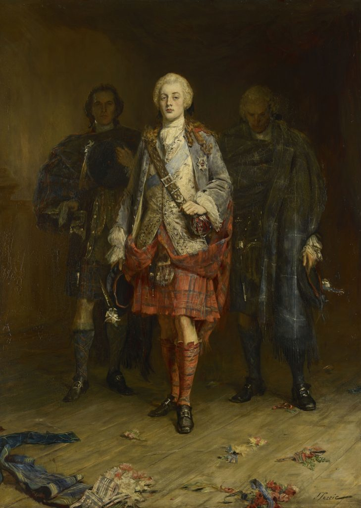 John Pettie, Bonnie Prince Charlie Entering the Ballroom at Holyroodhouse, before 30 Apr 1892