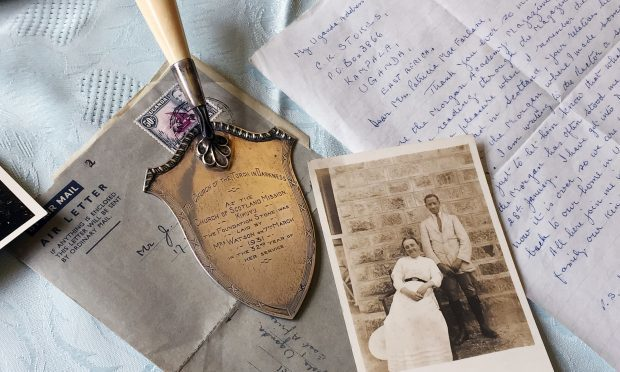 Letters, documents and photographs that belonged to the pioneering Scottish missionary Minnie Watson (National Library of Scotland/PA Wire)