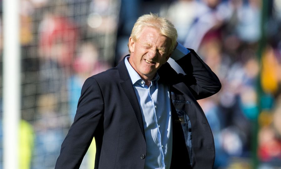 Scotland manager Gordon Strachan looks dejected at full time (SNS Group)