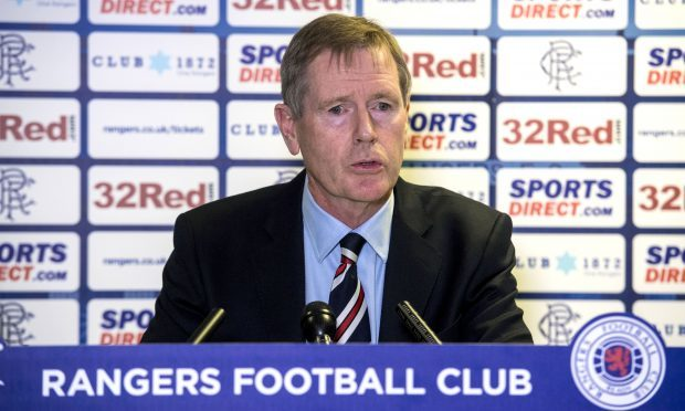 Rangers chairman Dave Kings speaks to the press at Ibrox (SNS Group / Alan Harvey)