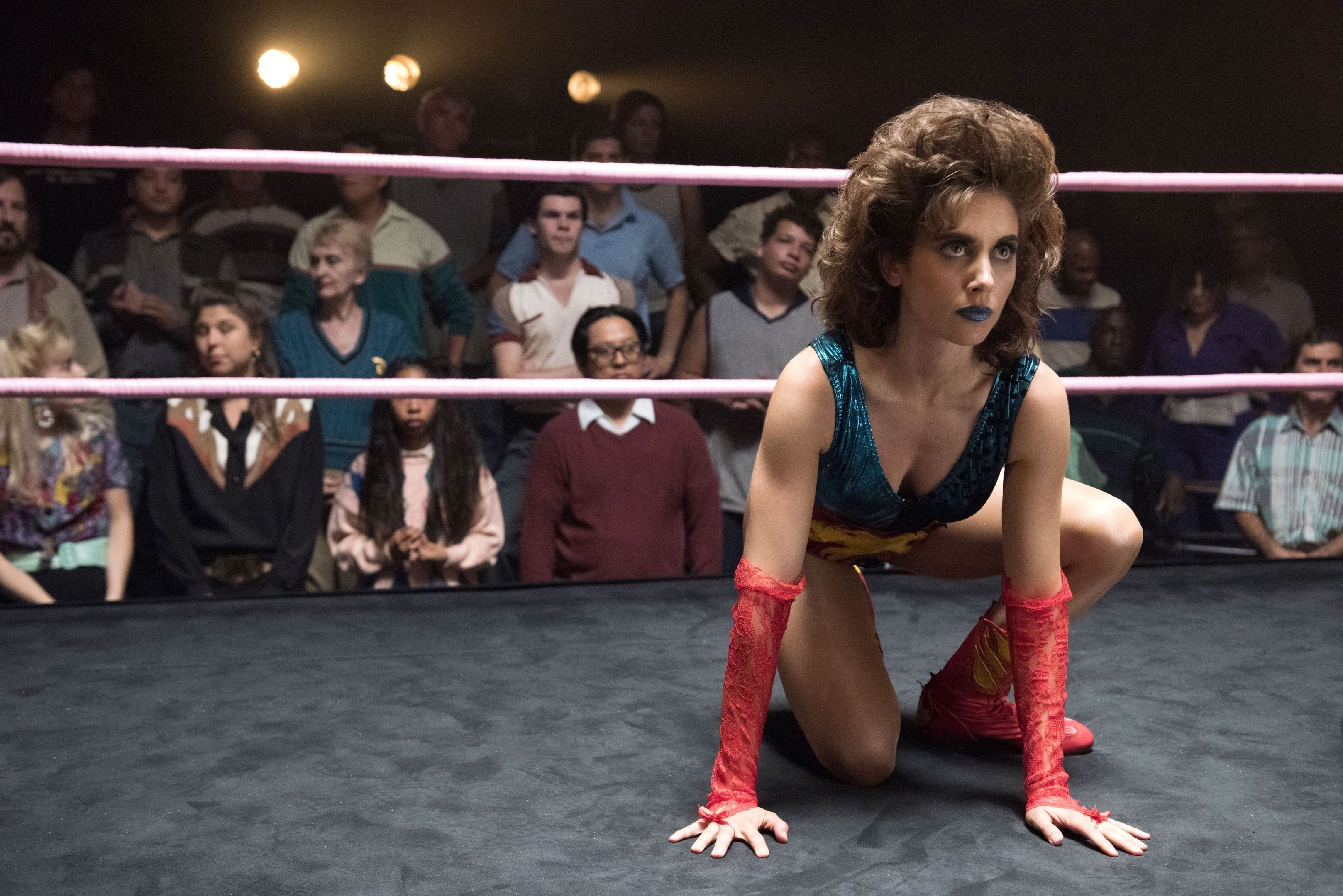 Alison Brie stars in Glow (PA Photo/Erica Parise/Netflix)