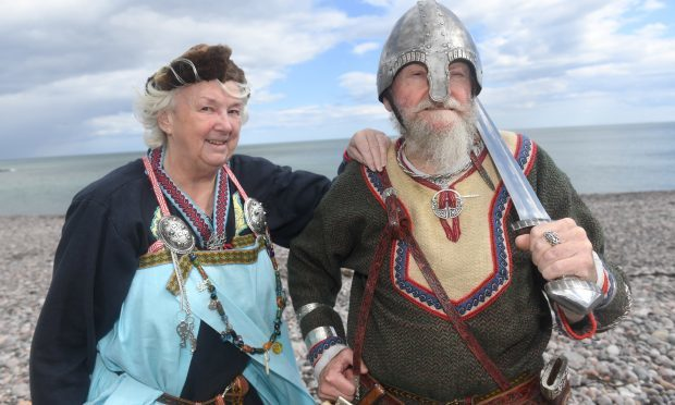 Sandie and Jim Gillbanks from Inverbervie are members of The Vikings re-enactment Society (Chris Sumner / Evening Express)