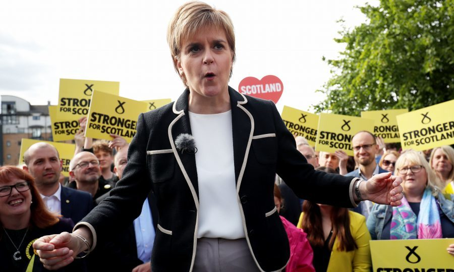 Scottish leader Sturgeon says election 'disastrous' for PM May