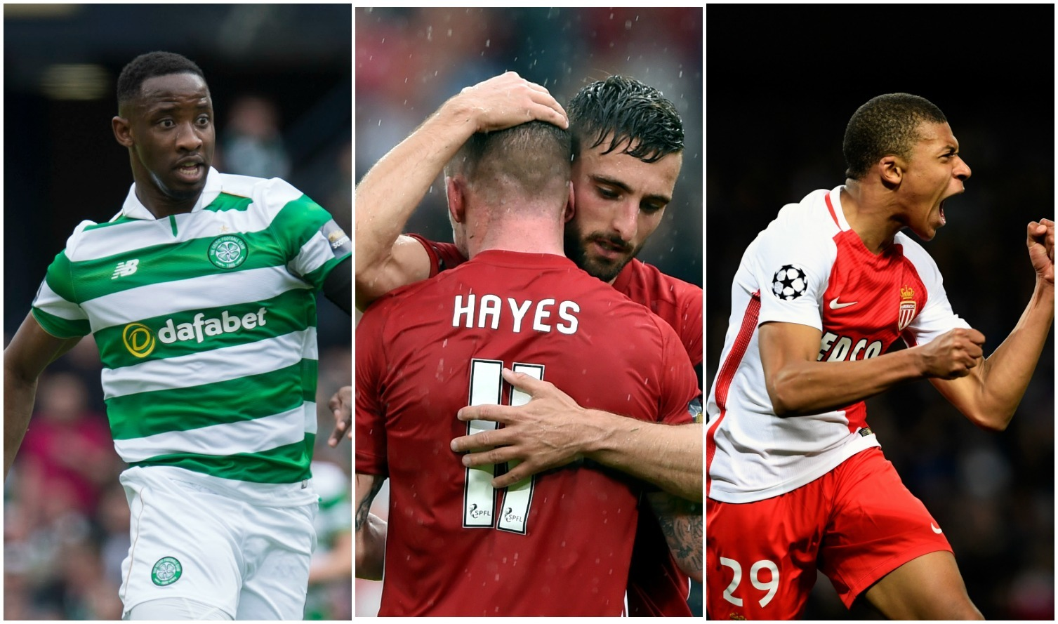 Dembele, Hayes and Mbappe could be on the move (SNS Group / Craig Foy, Darrell Benns/ Evening Express, Stu Forster / Getty Images)
