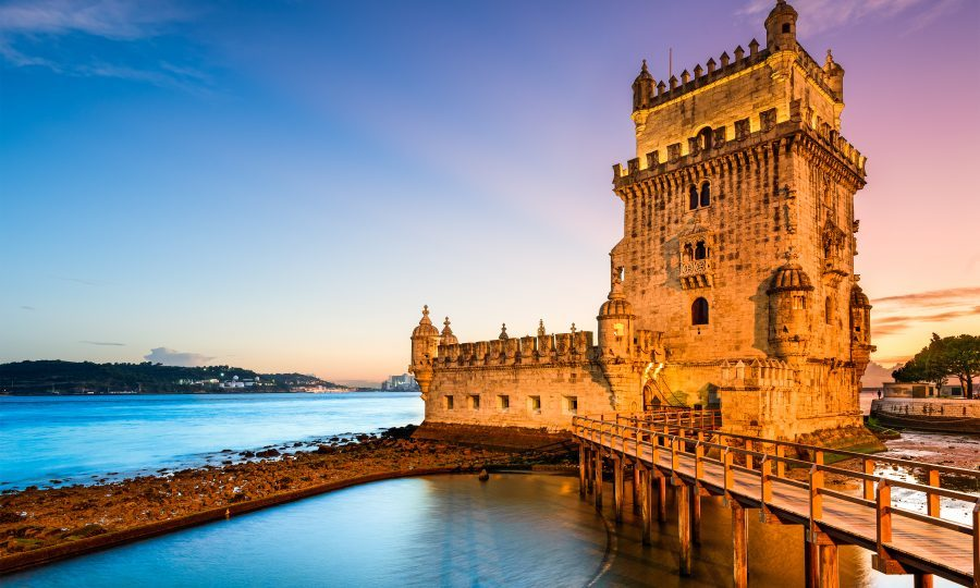 The Tower of St. Vincent, also known as Belem Tower, on the Tagus River. Lisbon, Portugal (iStock)