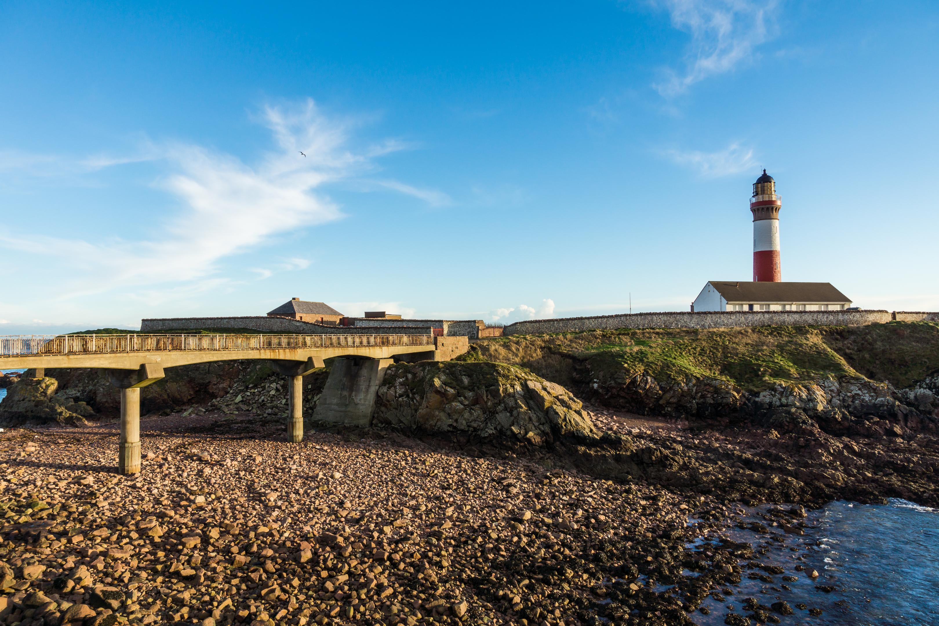 Buchanness Lighthouse, Boddam beside Peterhead, Aberdeenshire (iStock)