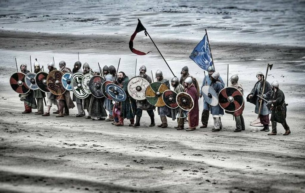 Members of The Vikings re-enactment group