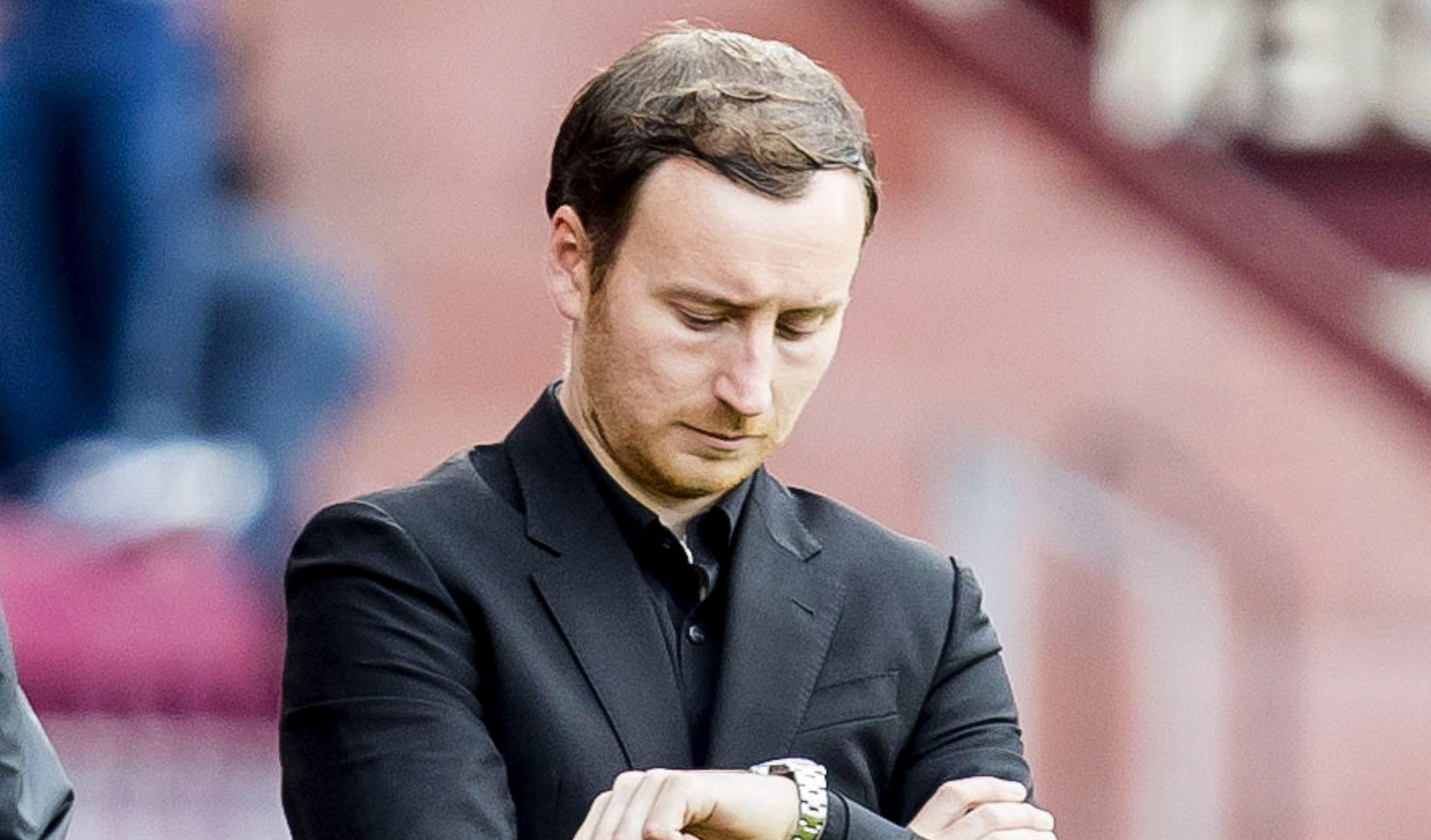 Hearts manager Ian Cathro (PA)