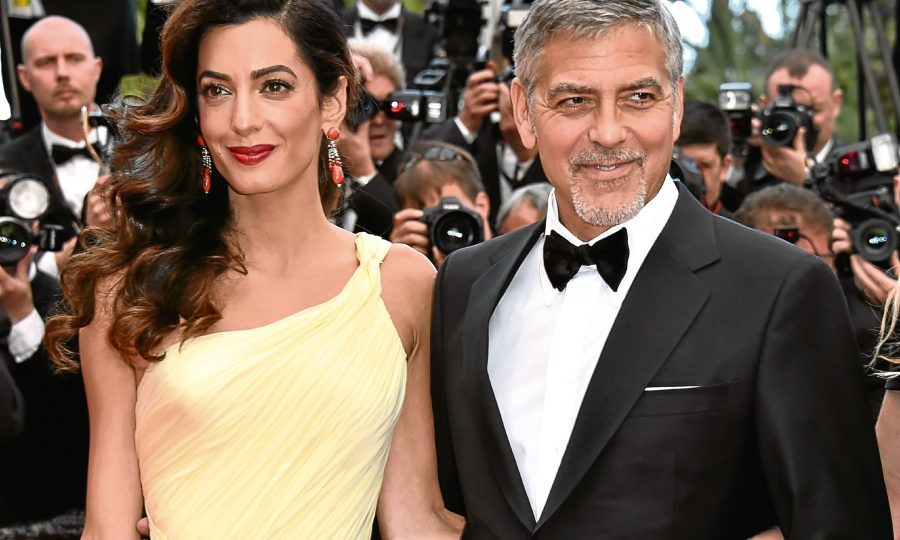 Beaming Parents George and Amal Clooney Step Out for Dinner in Italy
