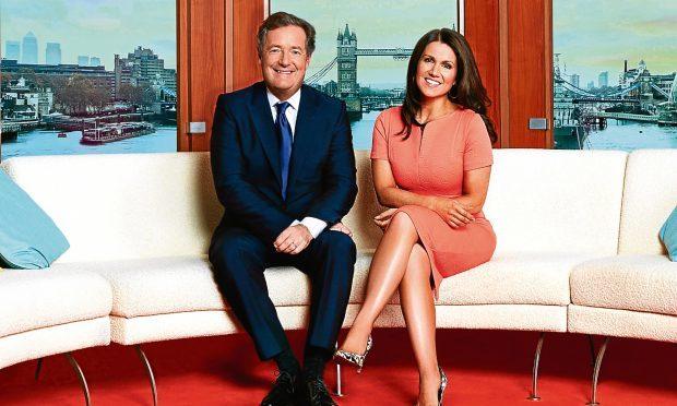 Piers Morgan and Susanna Reid on Good Morning Britain (ITV, Jonathan Ford)