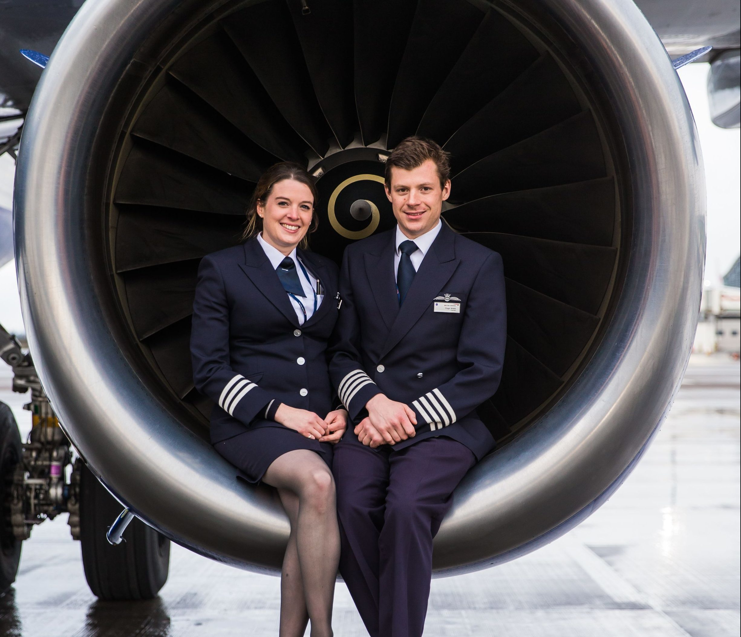 Married pilots tell of great fun they have flying BA planes together