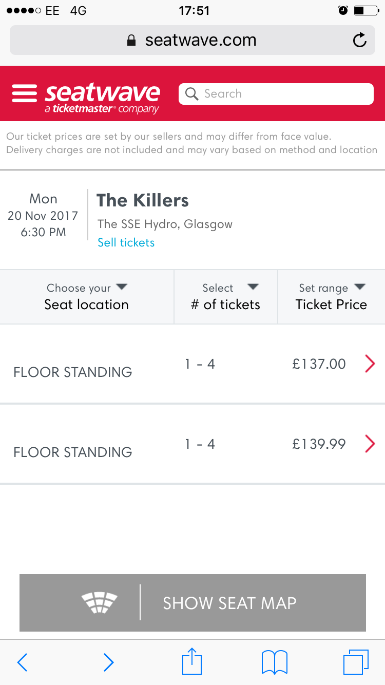Disappointed fans see tickets for The Killers' UK tour sell