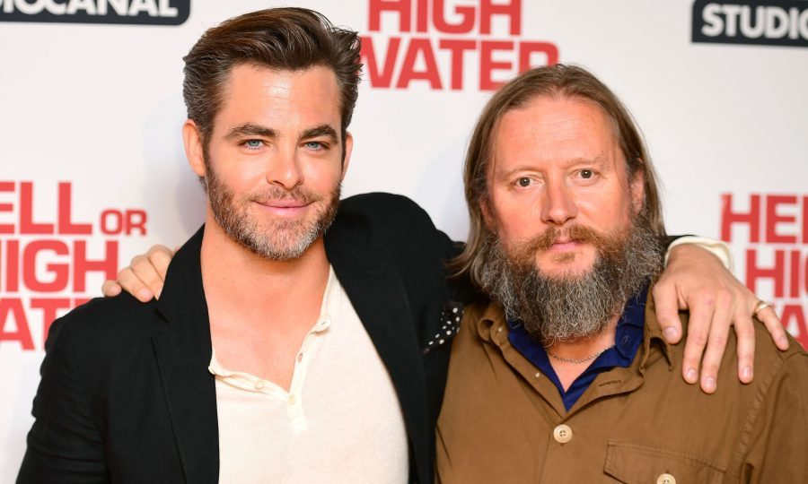 Chris Pine and director David Mackenzie attend the gala screening of Hell or High Water at the Washington Mayfair Hotel, London. (PA)