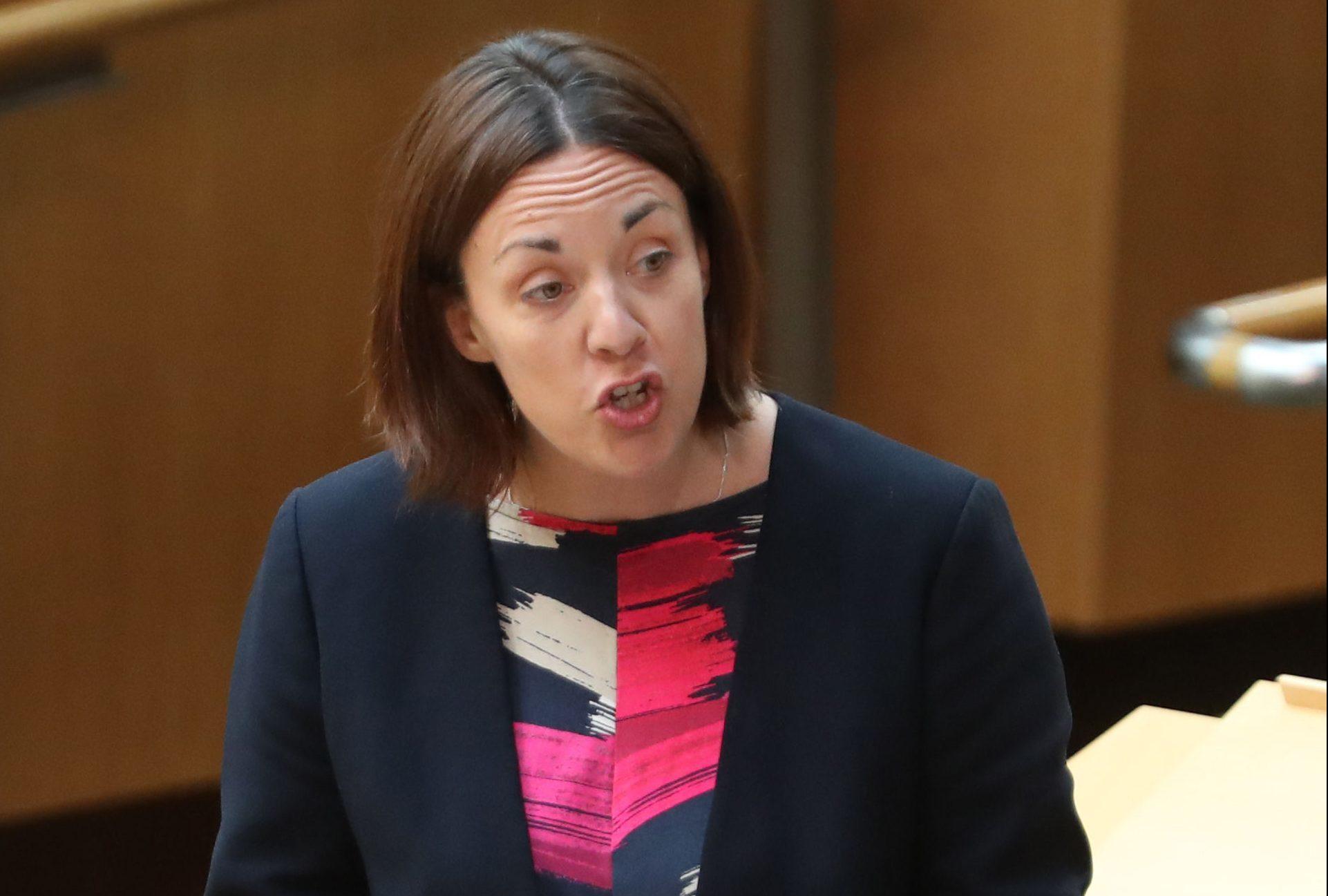 Scottish Labour leader Kezia Dugdale during FMQs at the Scottish Parliament in Edinburgh. (Andrew Milligan/PA Wire)