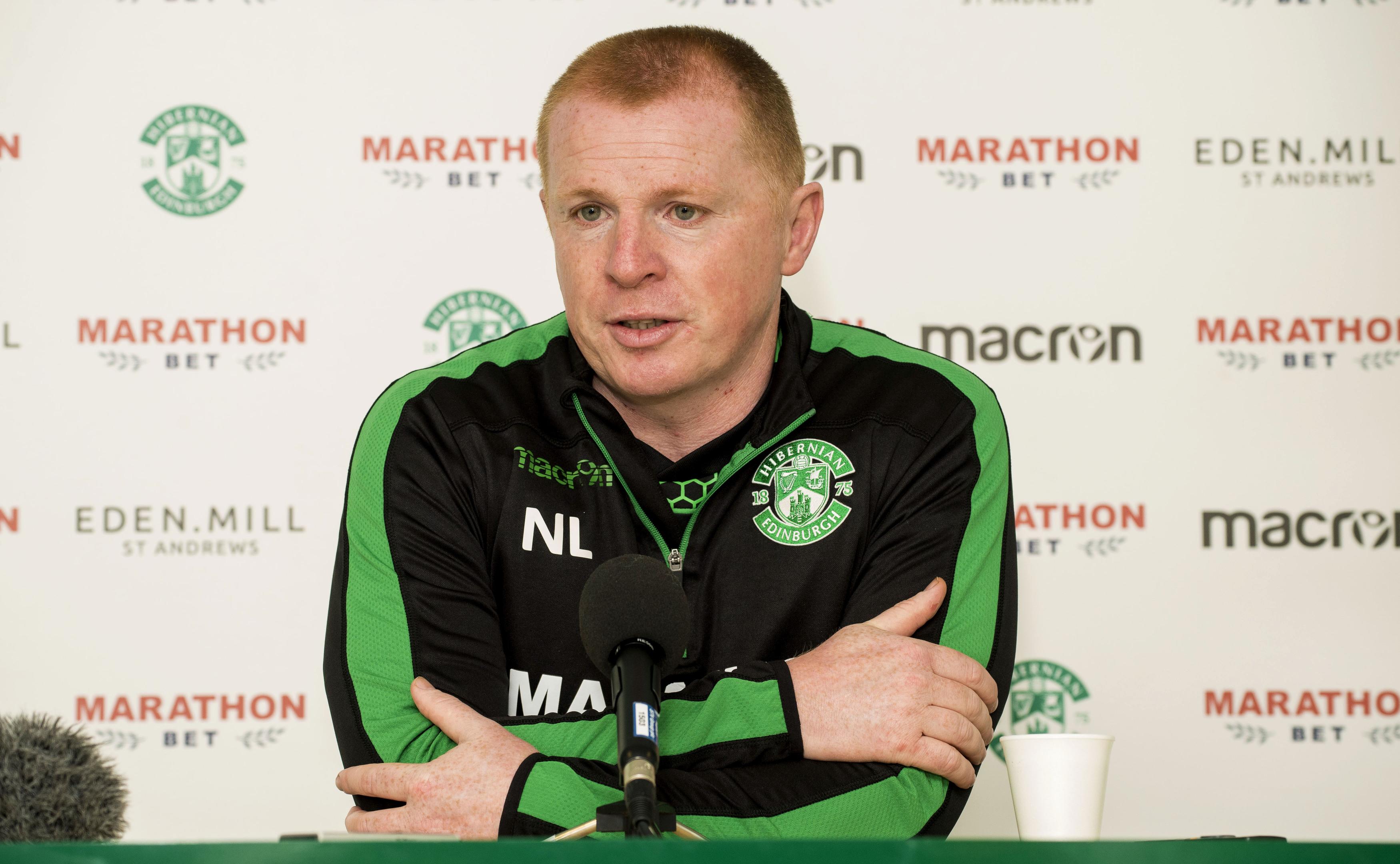 Hibernian manager Neil Lennon speaks to the media (SNS Group / Bill Murray)