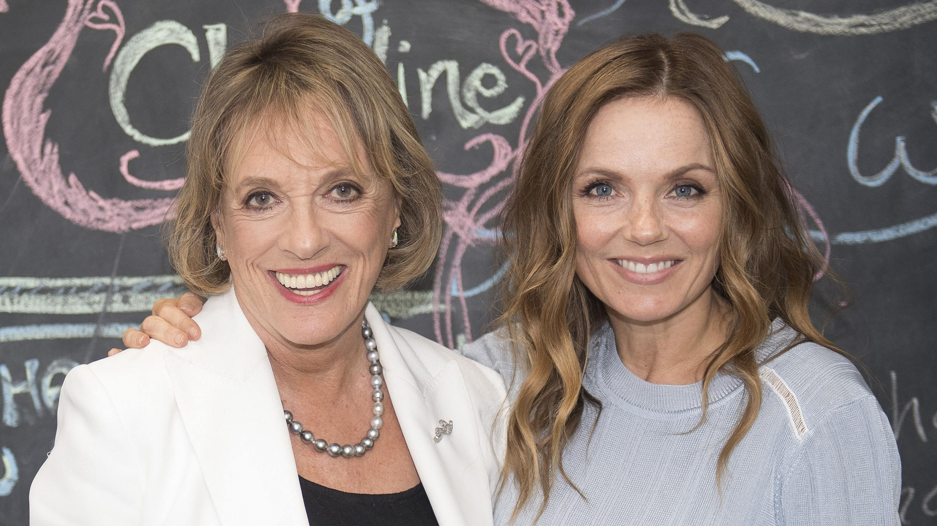 Dame Esther Rantzen and Geri Horner (Victoria Jones/PA)