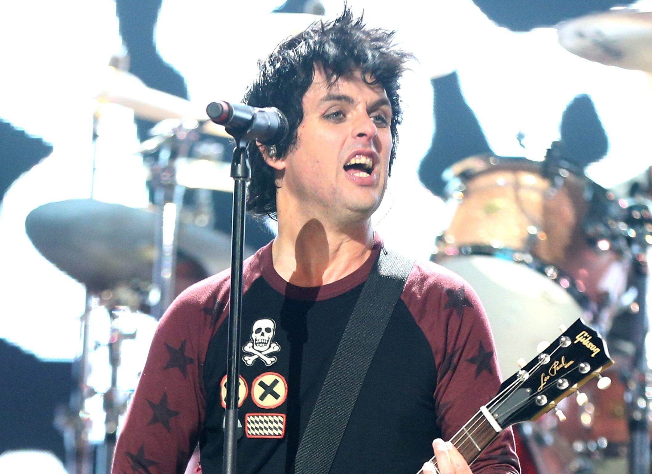 Frontman Billie Joe Armstrong of Green Day. It has been announced that today's Bellahouston Park gig is cancelled (Christopher Polk/Getty Images for Clear Channel)