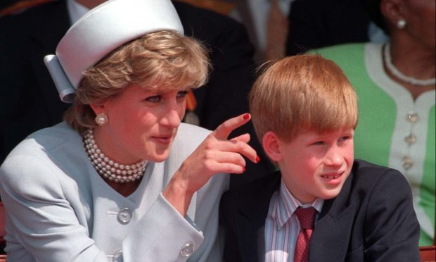 Diana, Princess of Wales with her son Prince Harry, 1995 (Martin Keene/PA Wire)