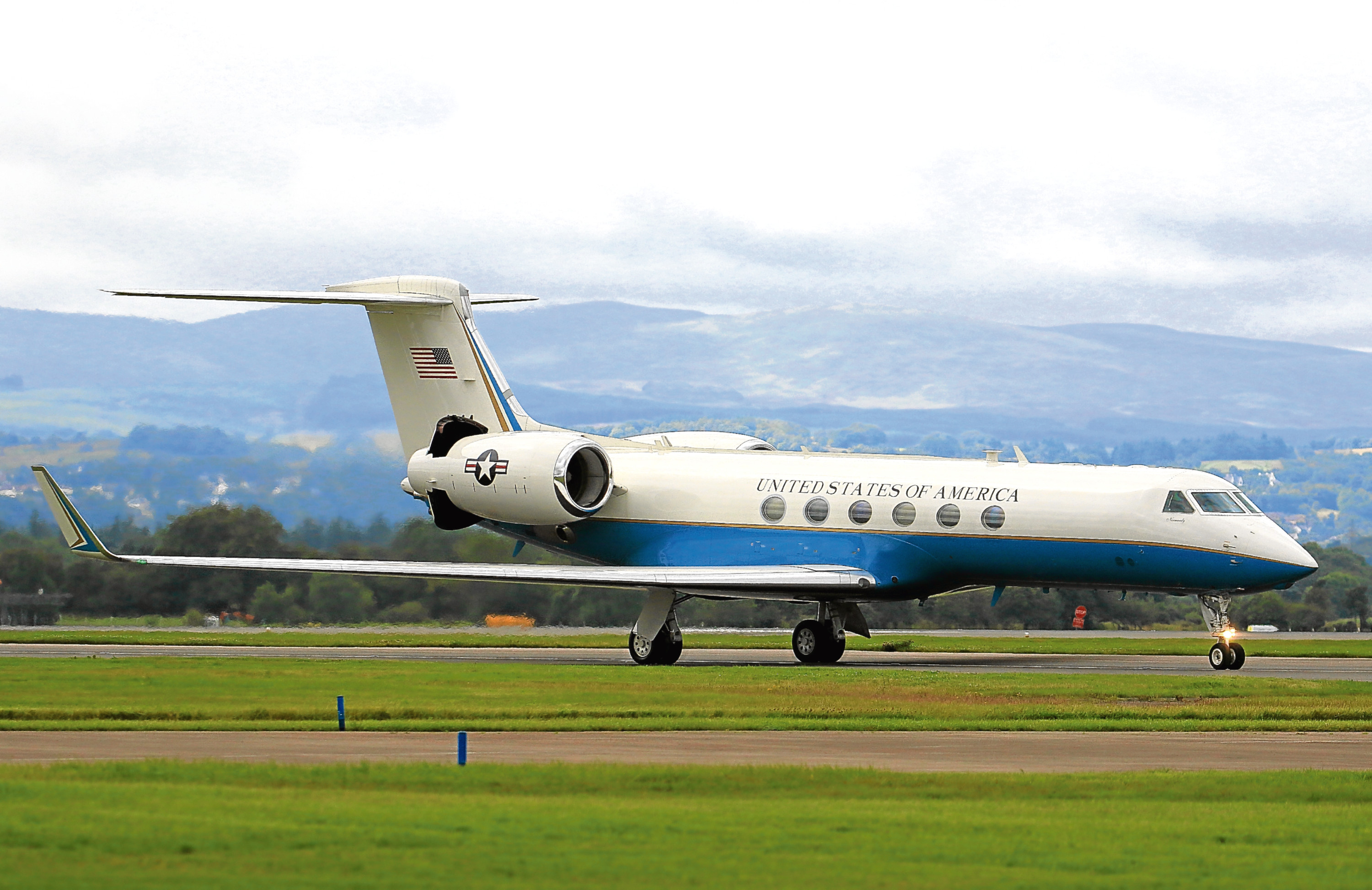 The jet that touched down in Scotland