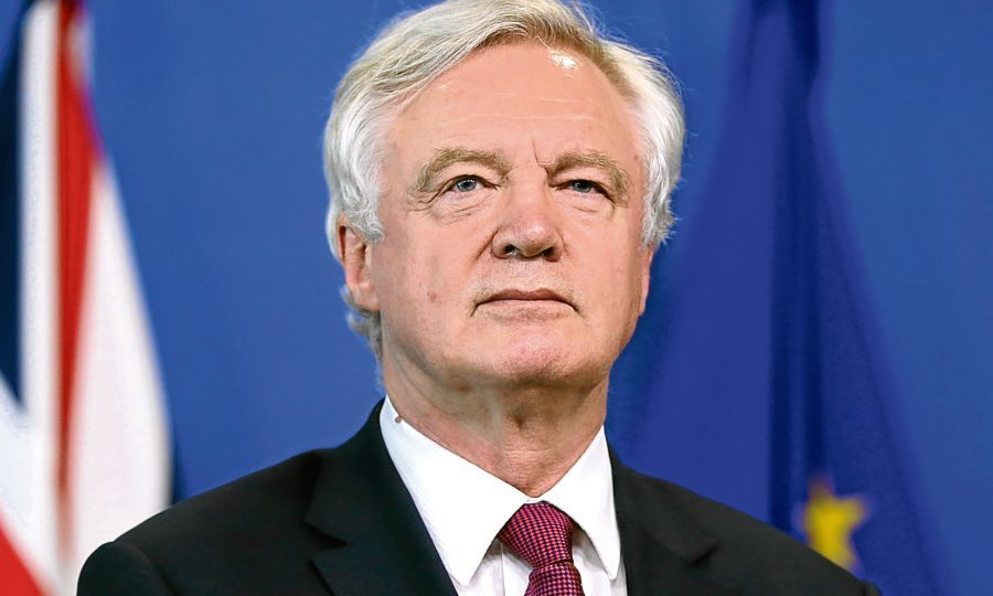 Secretary of State for Exiting the European Union, David Davisstart of Brexit negotiations in Brussels, Belgium, on (Dursun Aydemir/Anadolu Agency/Getty Images)
