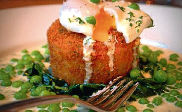 Finnan haddie fishcakes with parsley cream