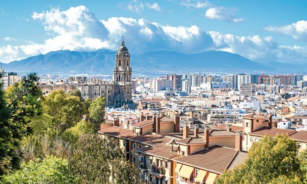 View of the Cathedral of Malaga from the Alcazaba, Andalusia, Spain (iStock)