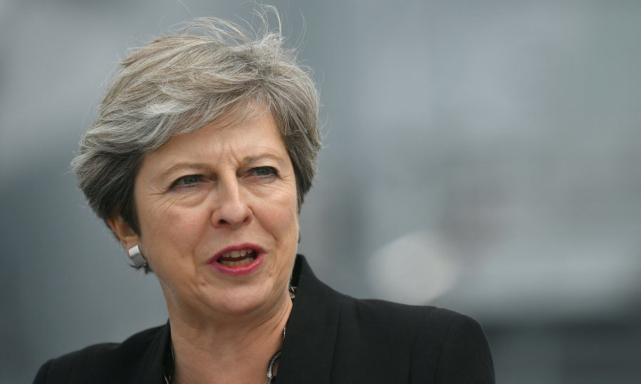 Theresa May condemns far right views following Trump remarks