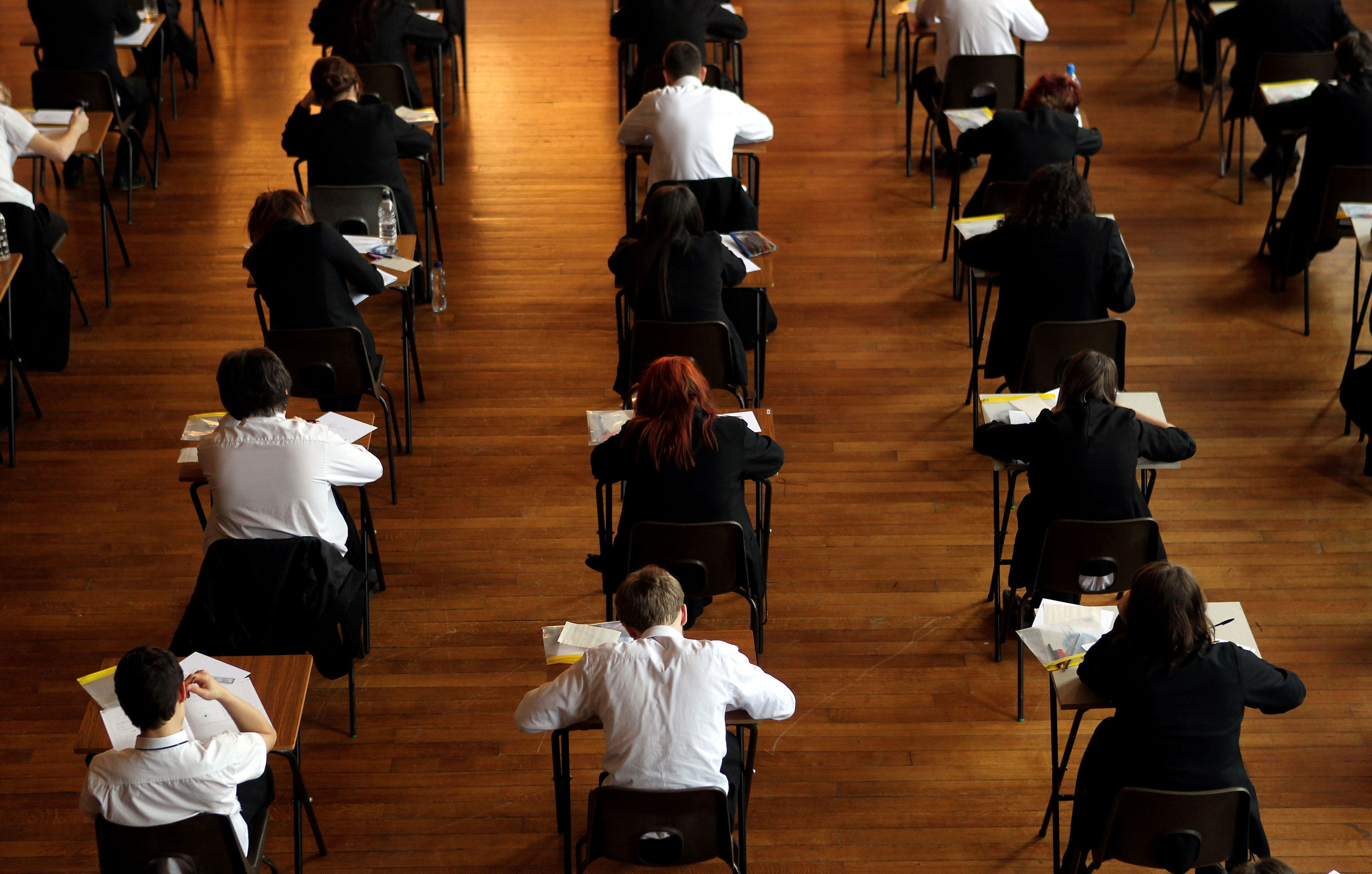 Exam results were released today (David Davies/PA Wire)