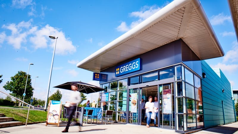 A drive-thru branch of Greggs