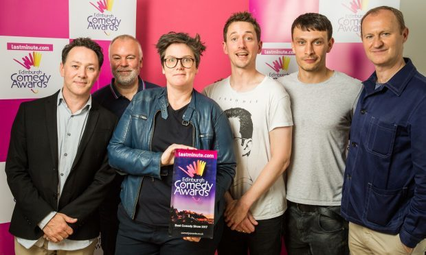 Edinburgh comedy award winners Hannah Gadsby and John Robins with Richard Gadd and the League of Gentlemen
