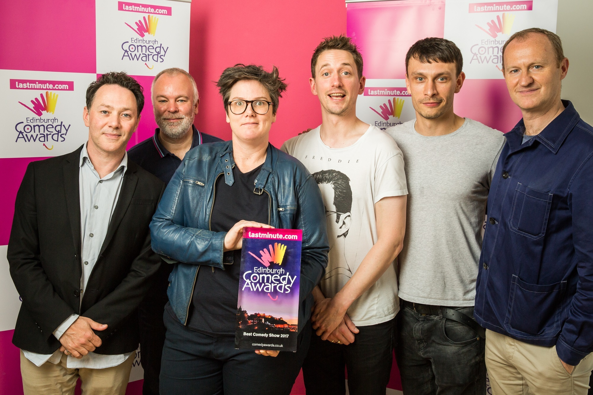 e0ffbf40c Edinburgh comedy award winners Hannah Gadsby and John Robins with Richard  Gadd and the League of