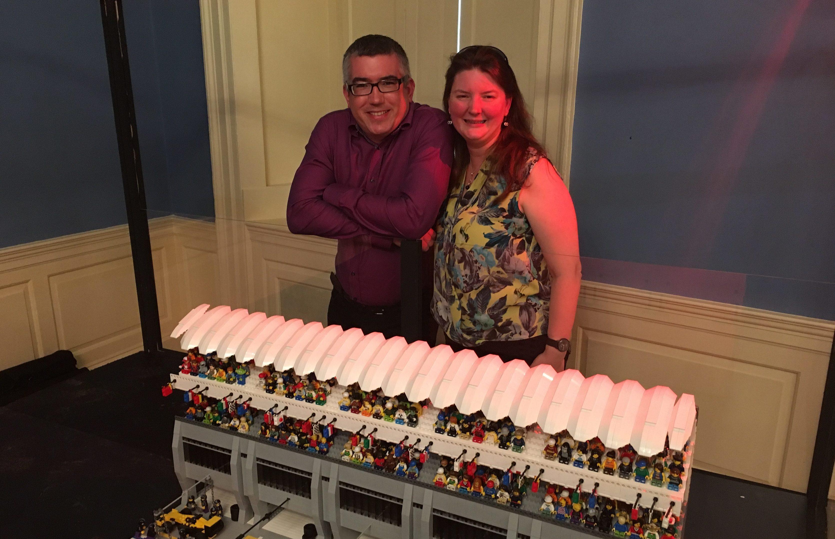Warren and Teresa Elsmore at BrickCity  (Ross Crae / DC Thomson)