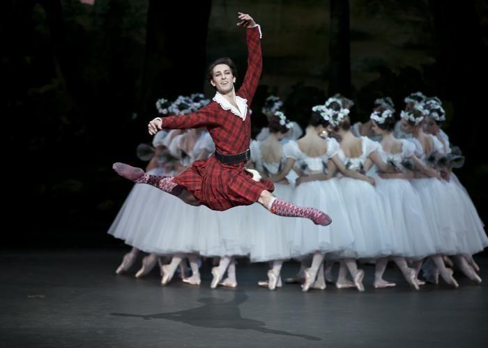 Paris Opera - Mathieu Ganio as James in La Sylphide. © Emma Kauldhar