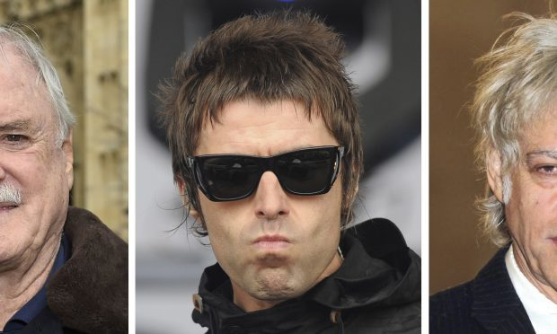 """John Cleese, Sir Bob Geldof and Liam Gallagher, who are among a raft of stars who will take part in a rough sleeping event dubbed """"Live Aid"""" for the homeless. (PA Wire)"""