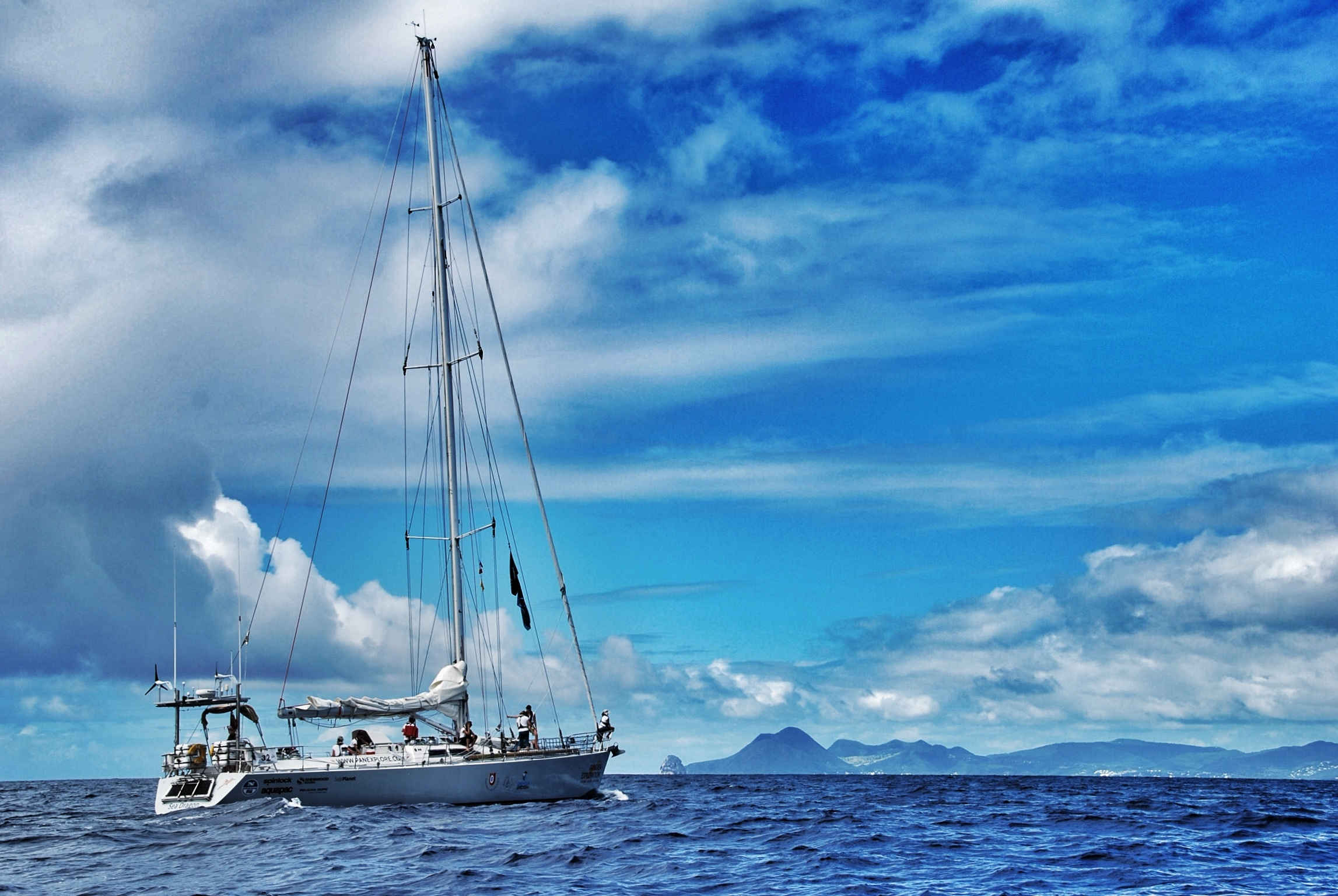The yacht Sea Dragon, which will sail around the British Isles (eXXpedition)