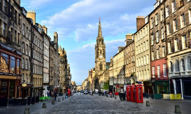 View down the historic Royal Mile, Edinburgh, Scotland (iStock)