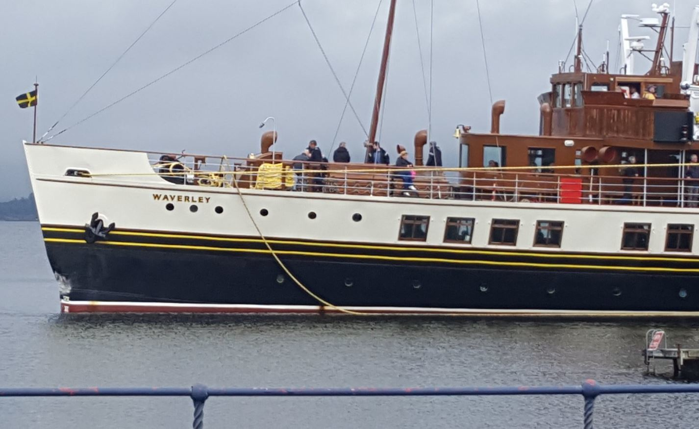 The paddle steamer sustained minor damage in the incident (Peter Wallace / Twitter)