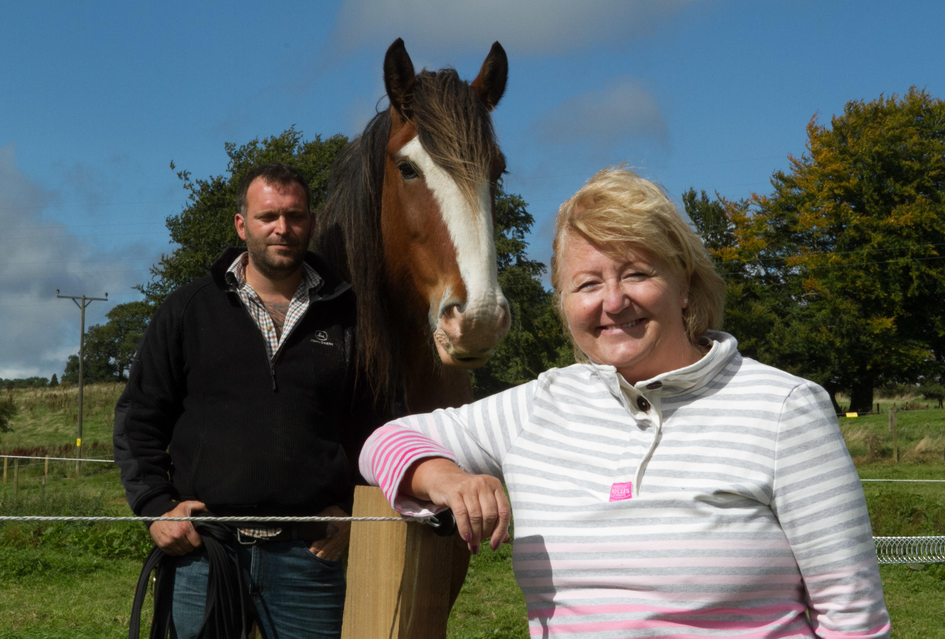 Former soldier Tam Carroll with his mum Ellen (Chris Austin / DC Thomson)