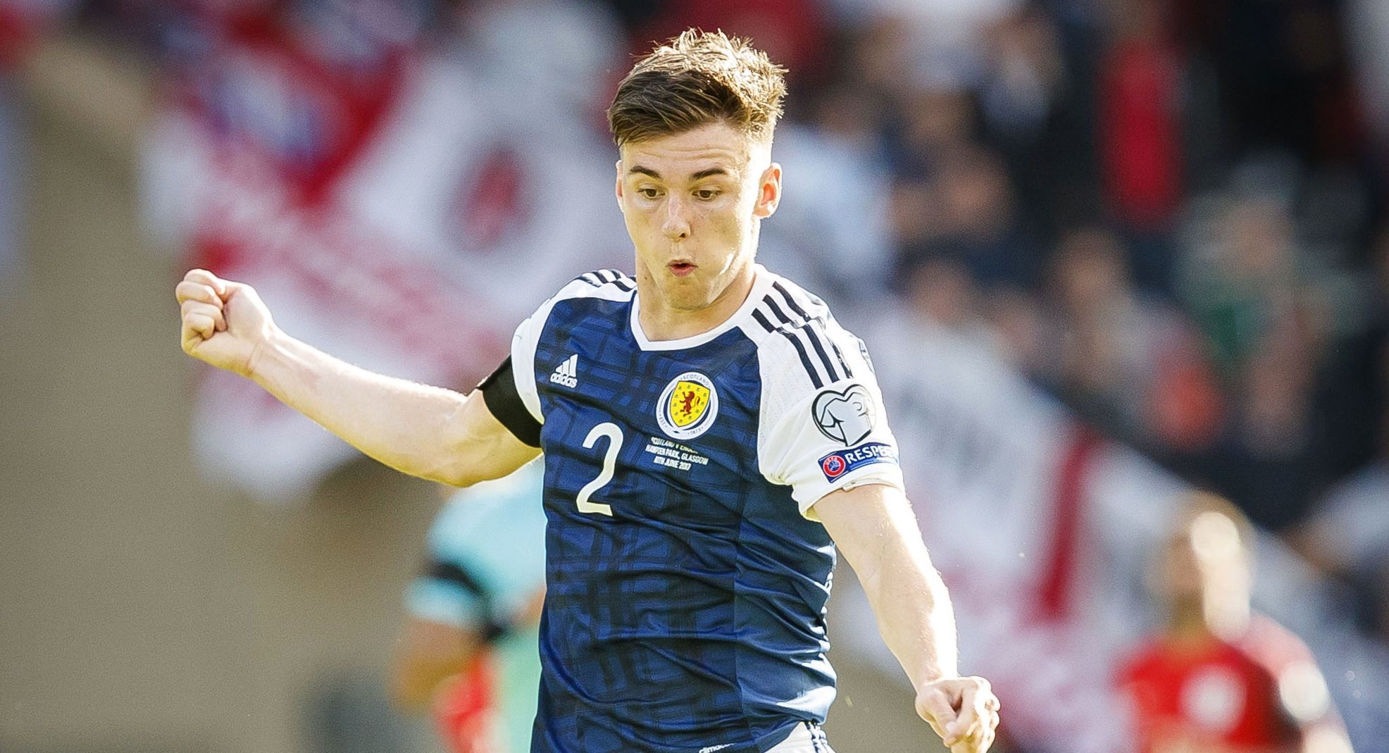 Kieran Tierney in action for Scotland (SNS)
