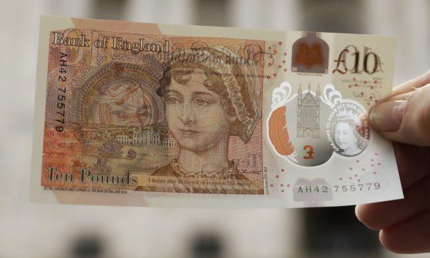 One of the new 10 pound notes (AP Photo/Matt Dunham)
