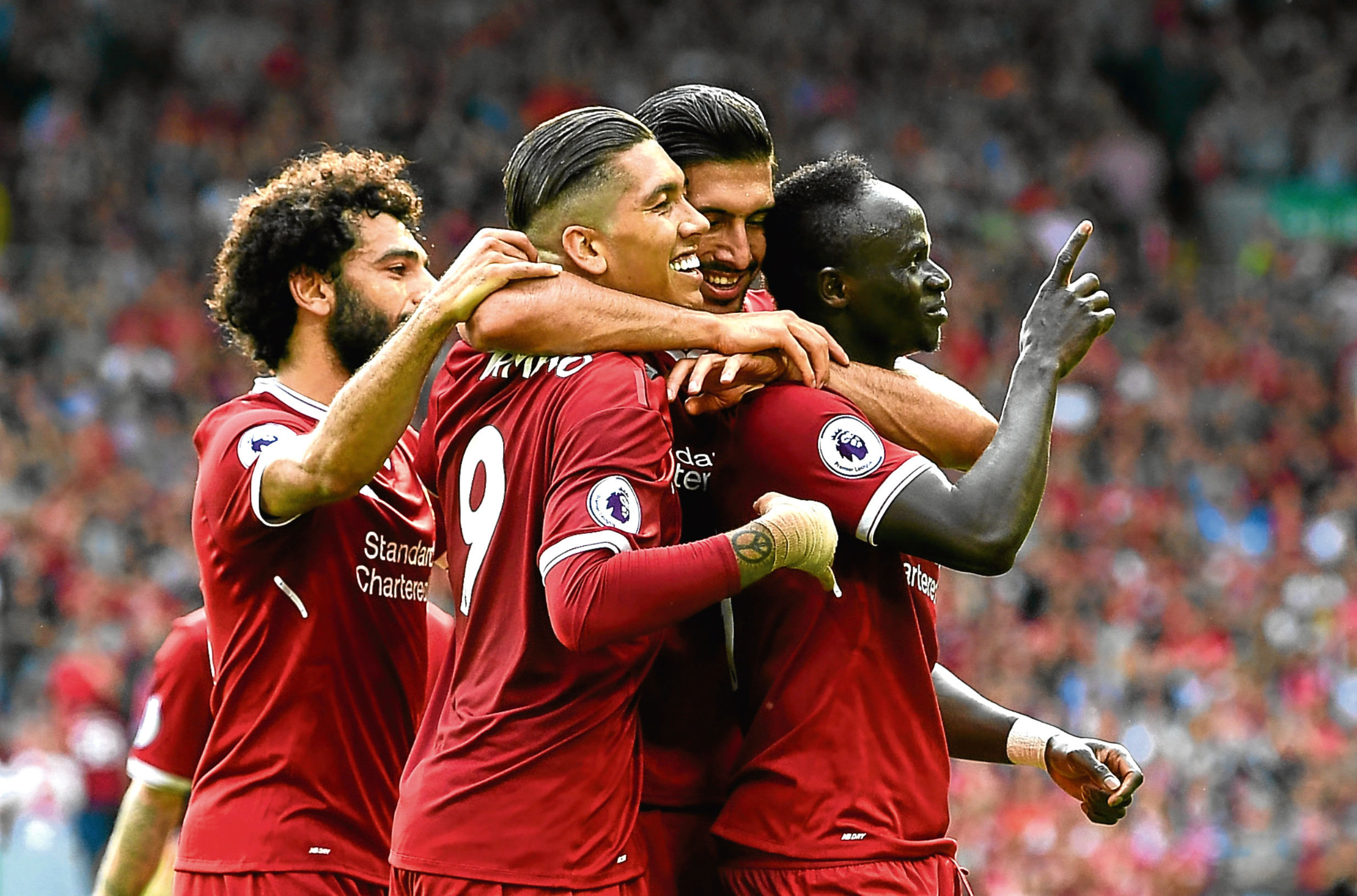 Sadio Mane of Liverpool celebrates scoring (Michael Regan/Getty Images)