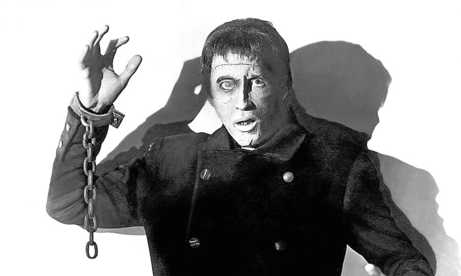 Peter Cushing in 'THE CURSE OF FRANKENSTEIN', 1957 (Allstar/HAMMER FILM)