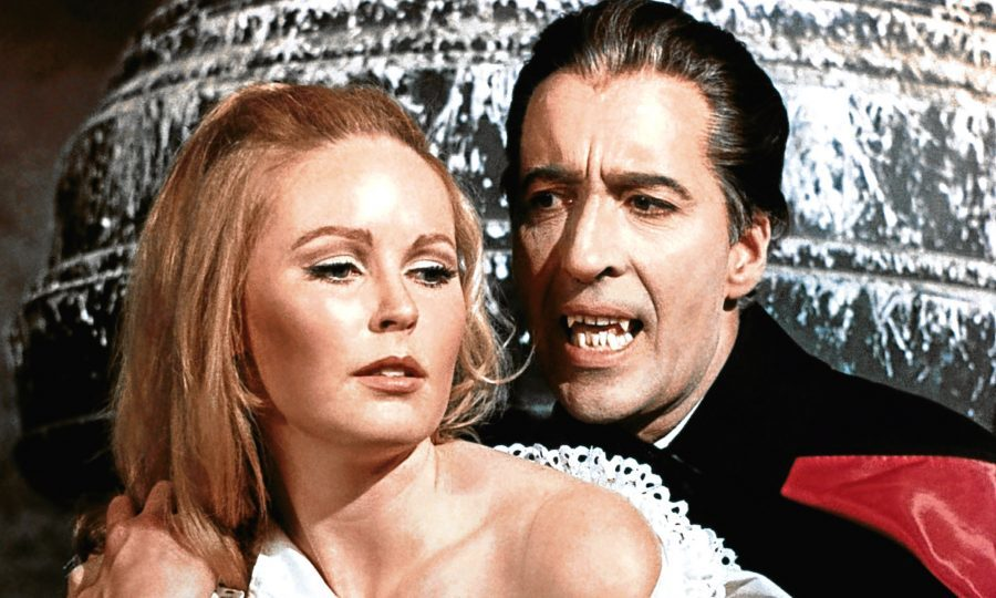 Veronica Carlson and Christopher Lee star in Dracula Has Risen From The Grave, 1968 (Allstar/HAMMER FILMS)