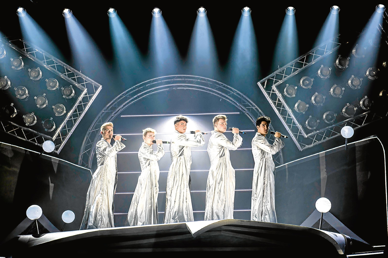 The stars of Take That musical The Band (Matt Crockett/PA Wire)