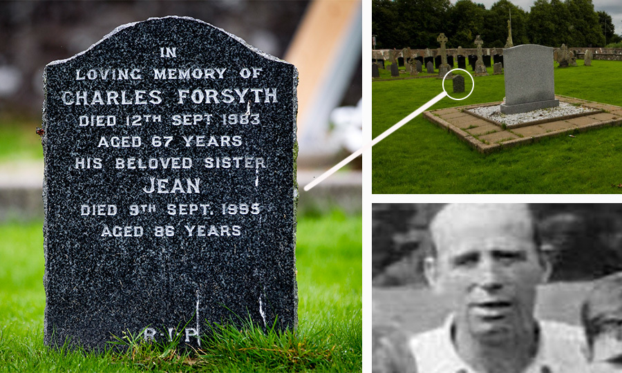 Charlie Forsyth's grave is just yards from children's memorial