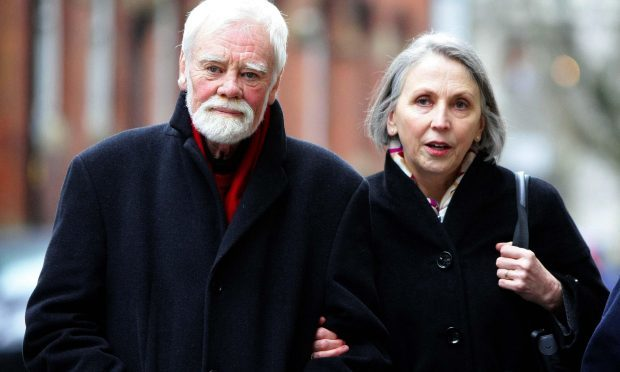 Tony Booth and his wife Steph. The actor and political campaigner, who starred in Till Death Us Do Part, has died, his family said in a statement. (Peter Byrne/PA Wire)