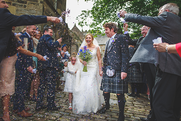 Kate and Mike, Duddingston Kirk and The Caves (Weddings by Fern photography)