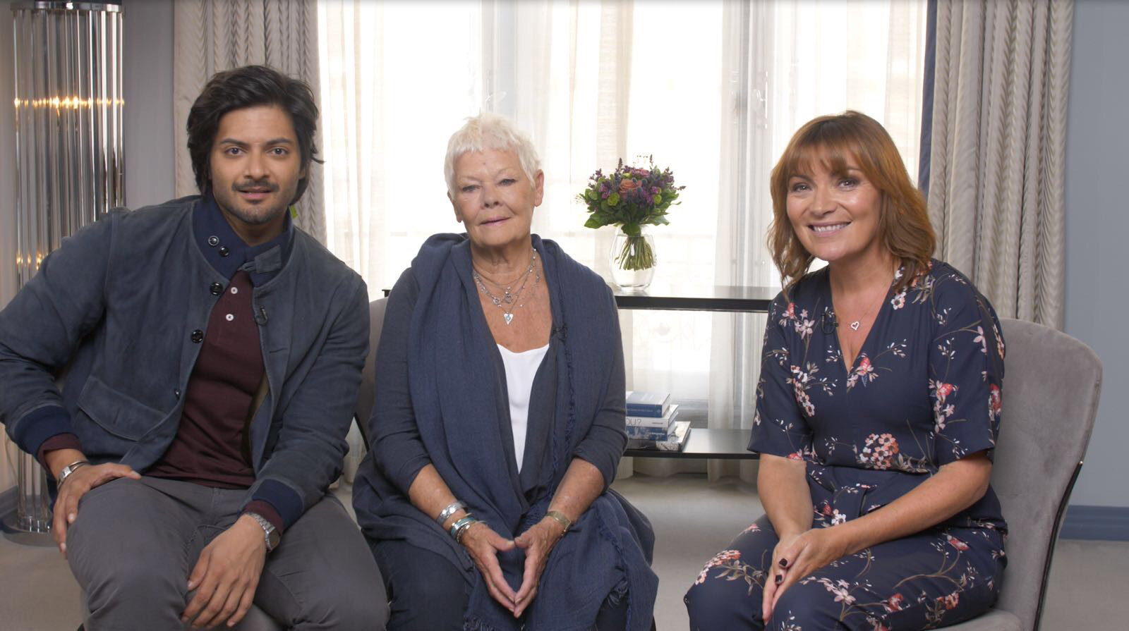 Lorraine had a rare time last week meeting the stars of Victoria And Abdul, Ali Fazal and Dame Judi Dench