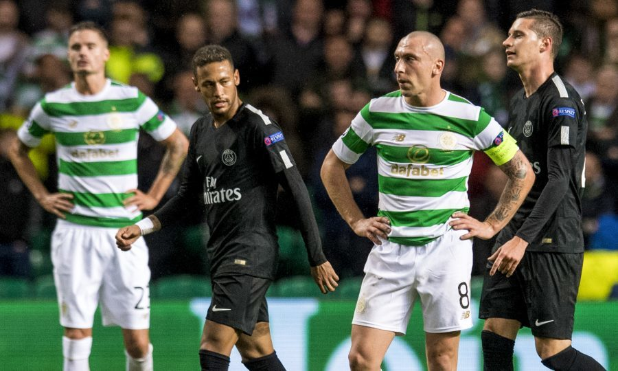 Dejection for Celtic's Scott Brown after his side concede again (SNS Group)