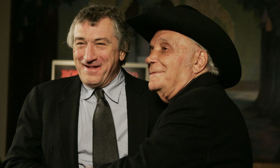 Robert DeNiro, left, meets boxer Jake LaMotta in 2005 (AP Photo/Julie Jacobson, File)